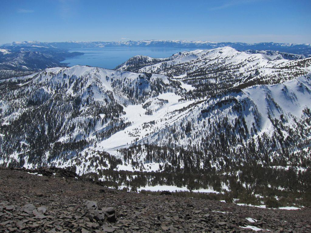 views of lake tahoe from Tamarack Peak